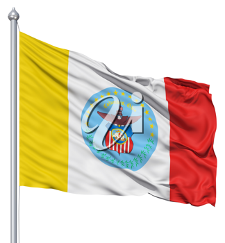 Royalty Free Clipart Image of the Columbus Flag