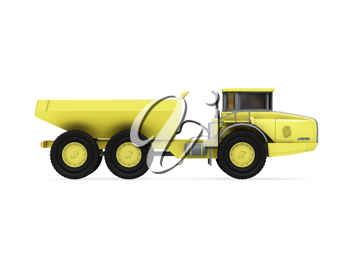 Royalty Free Clipart Image of a Construction Truck