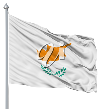 Royalty Free Clipart Image of the Flag of Cyprus