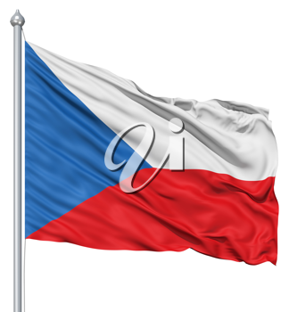 Royalty Free Clipart Image of the Czech Republic Flag
