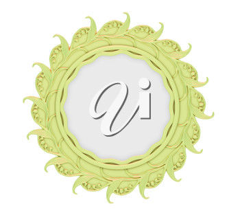 Royalty Free Clipart Image of a Decorative Mirror