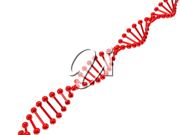 Royalty Free Clipart Image of the DNA Structure