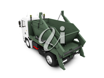 Royalty Free Clipart Image of a Dump Truck