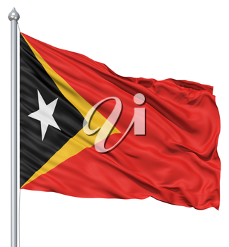 Royalty Free Clipart Image of the Flag of East Timor