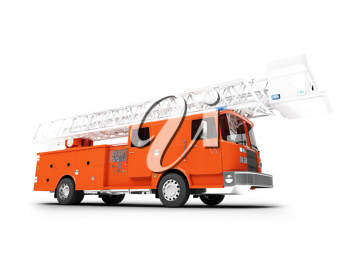 Royalty Free Clipart Image of a Firetruck