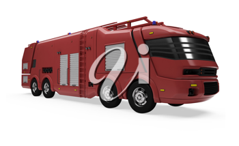 Royalty Free Clipart Image of a Futuristic Firetruck