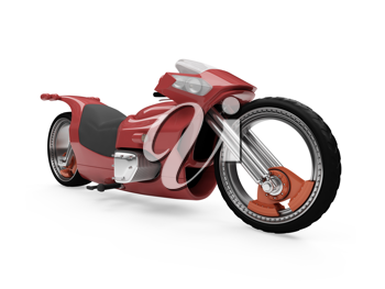 Royalty Free Clipart Image of a Morotcycle