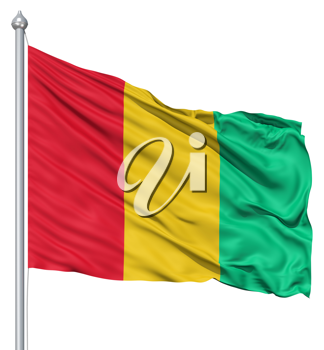 Royalty Free Clipart Image of the Flag of Guinea
