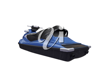 Royalty Free Clipart Image of a Jet Ski