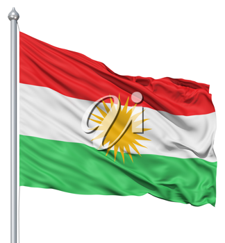 Royalty Free Clipart Image of the Flag of Kurdistan