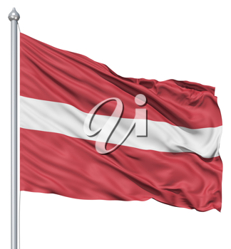 Royalty Free Clipart Image of the Flag of Latvia