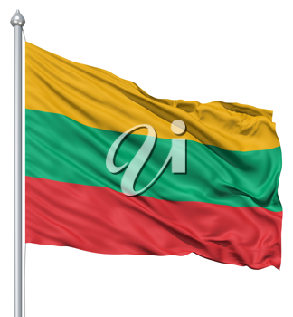 Royalty Free Clipart Image of the Flag of Lithuania