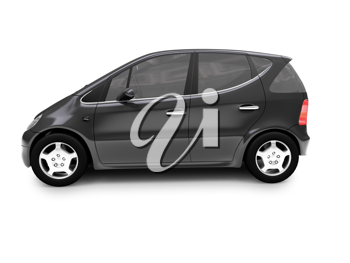 Royalty Free Clipart Image of a Mini Mercedes