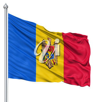 Royalty Free Clipart Image of the Flag of Moldova