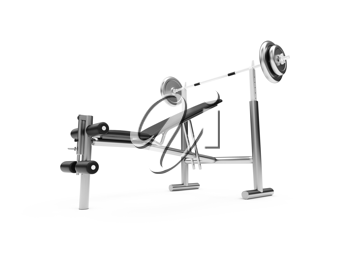 Royalty Free Clipart Image of a Workout Bench