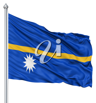 Royalty Free Clipart Image of the Flag of Nauru