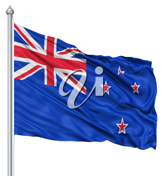 Royalty Free Clipart Image of the Flag of New Zealand
