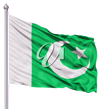 Royalty Free Clipart Image of the Flag of Pakinstan