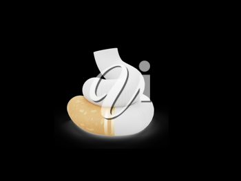 Royalty Free Clipart Image of a Cigarette in the Shape of Poo