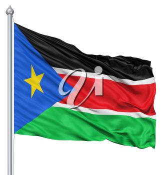 Royalty Free Clipart Image of the Flag of South Sudan