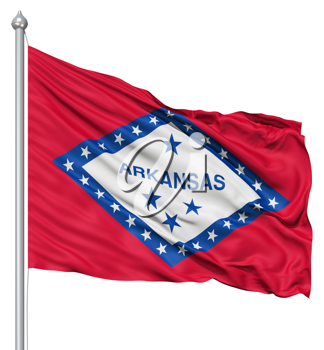 Royalty Free Clipart Image of the Flag of Arkansas