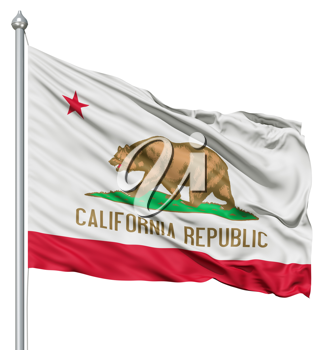 Royalty Free Clipart Image of the Flag of California