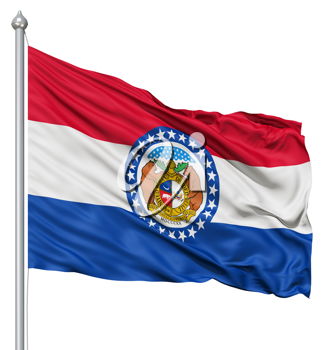 Royalty Free Clipart Image of the Flag of Missouri