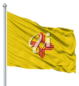 Royalty Free Clipart Image of the Flag of New Mexico