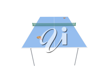 Royalty Free Clipart Image of Table Tennis