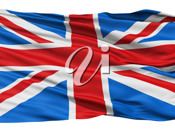 Royalty Free Clipart Image of the Union Jack Flag