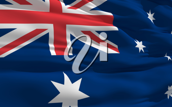 Royalty Free Clipart Image of the Flag of Australia
