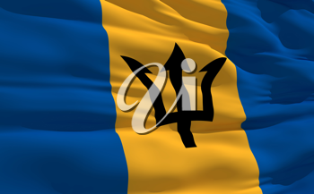 Royalty Free Clipart Image of the Flag of Barbados