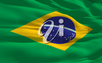 Royalty Free Clipart Image of the Flag of Brazil