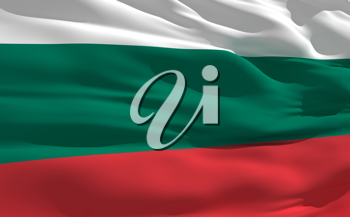 Royalty Free Clipart Image of the Flag of Bulgaria