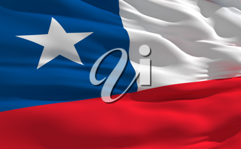 Royalty Free Clipart Image of the Flag of Chile