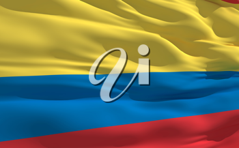 Royalty Free Clipart Image of the Flag of Colombia