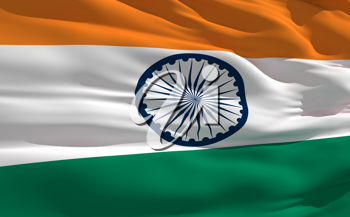 Royalty Free Clipart Image of the Flag of India