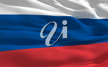 Royalty Free Clipart Image of the Flag of Russia
