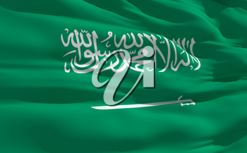 Royalty Free Clipart Image of the Flag of Saudi Arabia