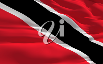 Royalty Free Clipart Image of the Flag of Trinidad and Tobago