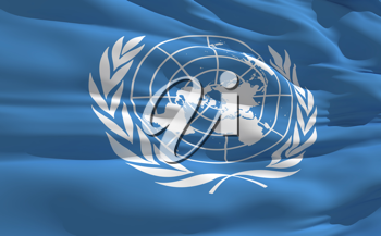 Royalty Free Clipart Image of the United Nations Flag