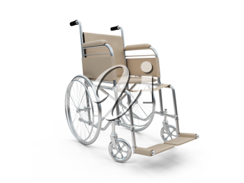 Royalty Free Clipart Image of a Wheelchair