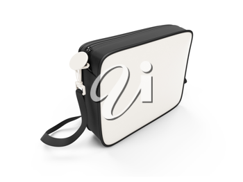 Royalty Free Clipart Image of a White Handbag