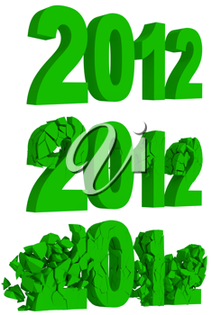Royalty Free Clipart Image of Words Crumbling