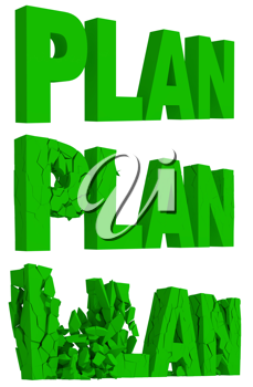 Royalty Free Clipart Image of the Word Plan