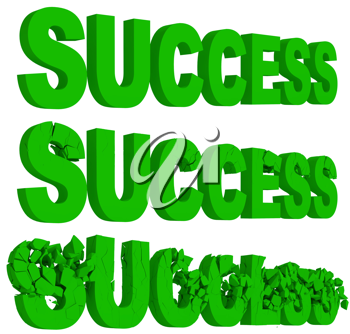 Royalty Free Clipart Image of the Words Success