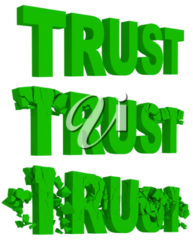 Royalty Free Clipart Image of the Word Trust