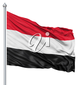 Royalty Free Clipart Image of the Flag of Yemen