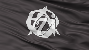 Anarchist Movement Flag, Closeup View, 3D Rendering