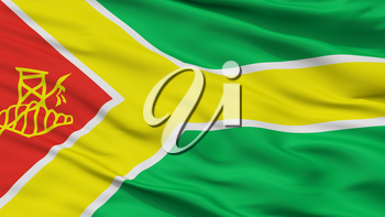 Tres Arroyos City Flag, Country Argentina, Closeup View, 3D Rendering